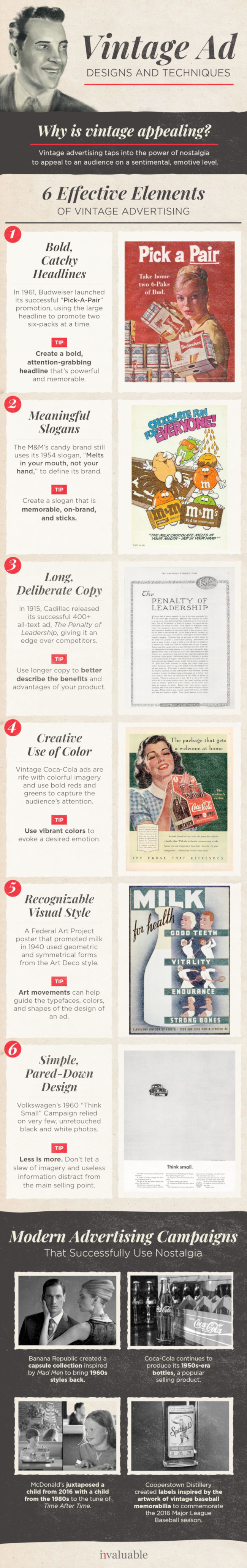 Vintage Ad Techniques that Still Work [Infographic]