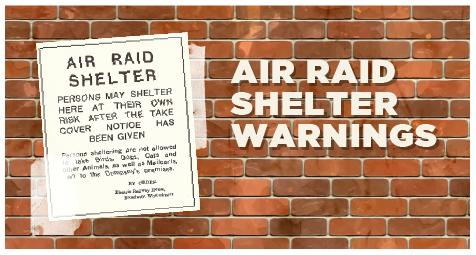 Air raid shelter warning