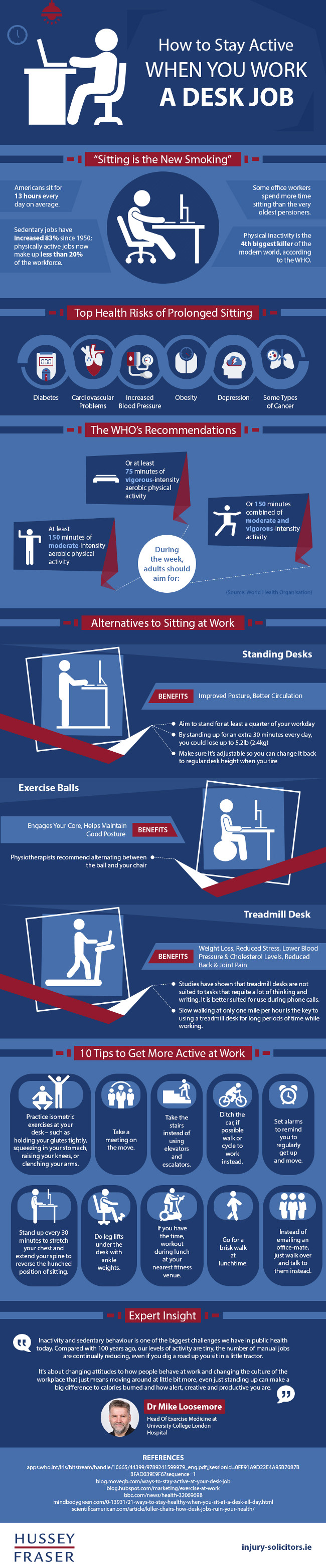 How to Stay Active When You Work A Desk Job [Infographic]