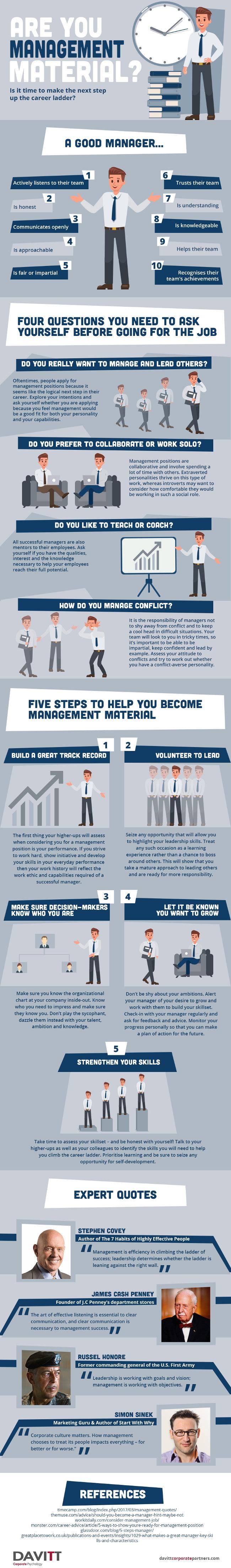 Davitt Corporate Partners provides practical tips on how to kickstart your management journey