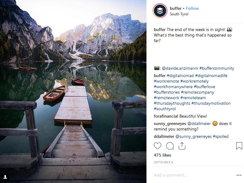 Buffer instagram