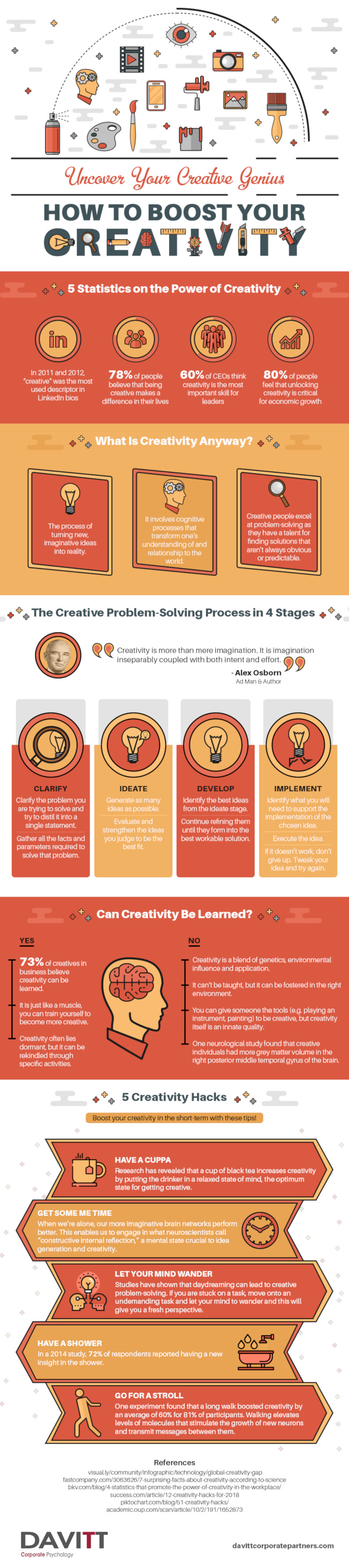 How to Boost Your Creativity [Infographic]