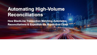 BlackLine Automating High-Volume Reconciliations