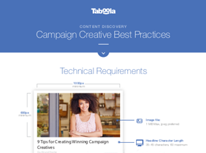 Taboola Campaign Creative Best Practices