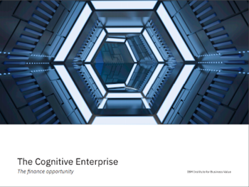The Cognitive Enterprise - The finance opportunity