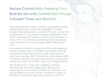 Maintel Keeping Your Business Securely Connected Through Turbulent Times and Beyond