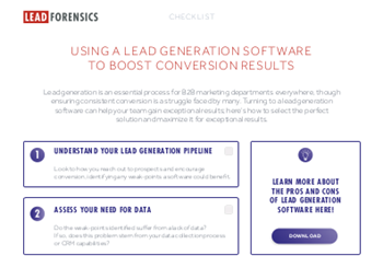 Lead Forensics Kick-Starting Your Lead Generation Strategy