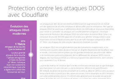 Cloudflare Protection contre les DDoS avec rate limiting