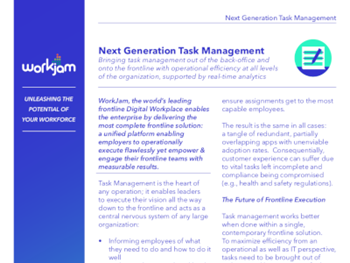 Workjam Next Generation Task Management