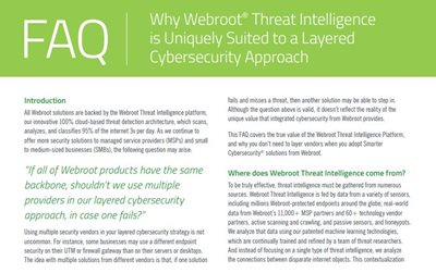 Webroot Why Webroot Threat Intelligence is Suited to a Layered Cybersecurity Approach