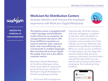 workjam WorkJam for Distribution Centers
