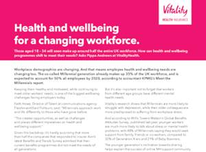 Vitality Health and Wellbeing for a Changing Workforce