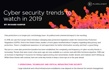 Pluralsight Cyber Security Trends to Watch in 2019