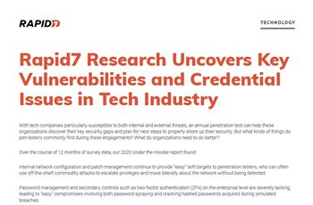 Rapid7 Research Uncovers Key Vulnerabilities for Manufacturing Organizations