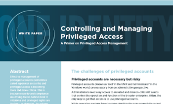 One Identity Controlling and Managing Privileged Access