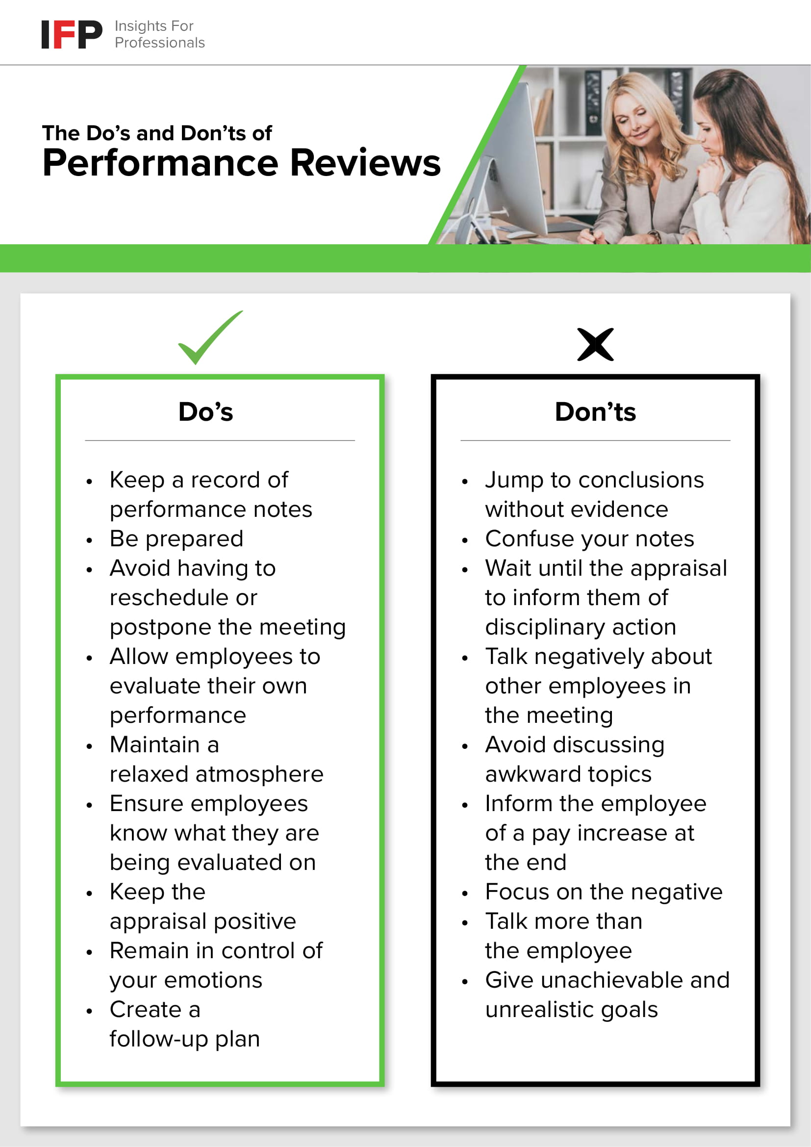 the do s and don ts of performance reviews the do s and don ts of performance reviews