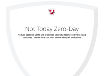 McAfee Not Today Zero-Day