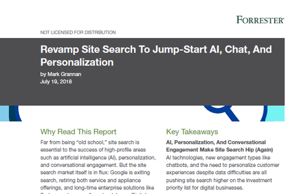 Algolia [Forrester Report] Revamp Site Search To Jump-Star