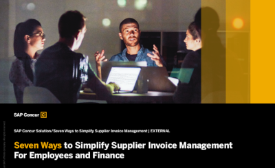 SAP Concur 7 Ways to Simplify Supplier Invoice Management