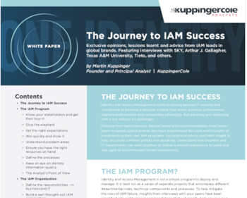 One Identity The Journey to IAM Success