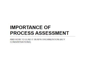 Importance of Process Assessment
