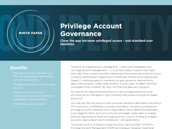 One Identity Privilege Account Governance