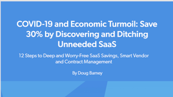CoreView COVID-19 and Economic Turmoil: Save 30% by Discovering and Ditching Unneeded SaaS