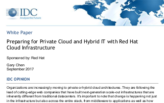 Red Hat Preparing for Private Cloud and Hybrid IT With Red Hat Cloud Infrastructure