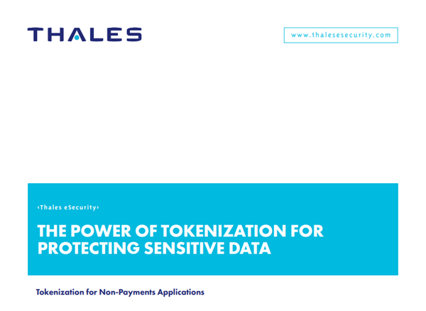 Thales The Power of Tokenization for Protecting Sensitive