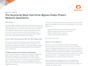 Gigamon The Surprising Ways that Inline Bypass Protects Business Operations