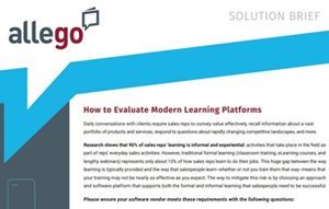 Allego How to Evaluate Modern Learning Platforms