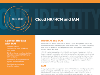 One Identity Cloud HR/HCM and IAM