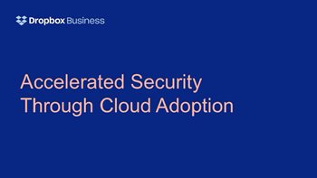 Accelerated Security Through Cloud Adoption
