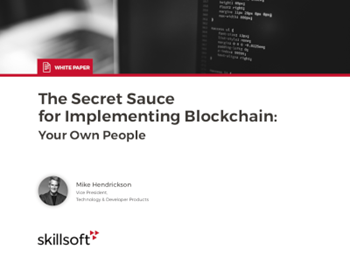 Skillsoft The Secret Sauce for Implementing Blockchain