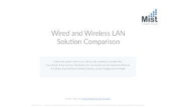 Mist Compare Top WLAN Platforms