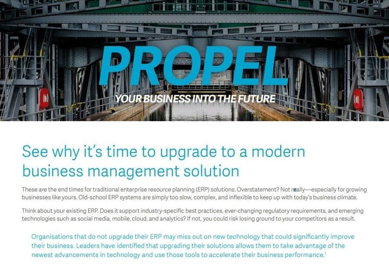 Sage Propel Your Business into the Future