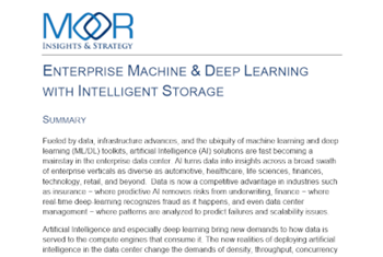Dell EMC Enterprise Machine and Deep Learning with Intelligent Storage