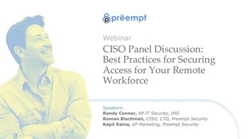 Best Practices for Securing Access for Your Remote Workforce
