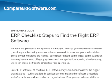 Business-Software.com ERP Checklist: Steps to Find the Right ERP Software