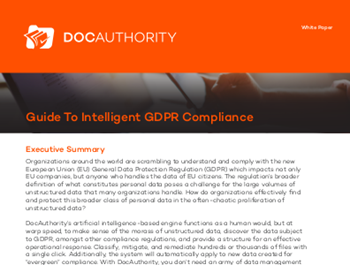 docauthority Guide To Intelligent GDPR Compliance