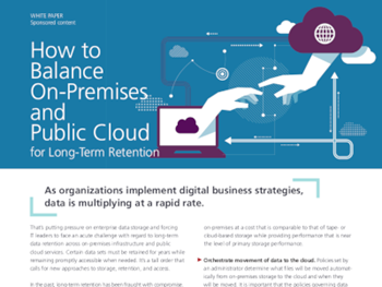 Veritas How to Balance On-Premises and Public Cloud for Long-Term Retention