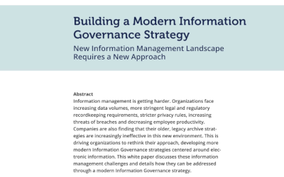 Mimecast Building a Modern Information Governance Strategy