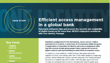 One Identity Efficient access management in a global bank