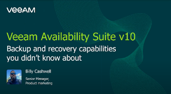 Veeam Availability Suite v10: Backup and recovery capabilities