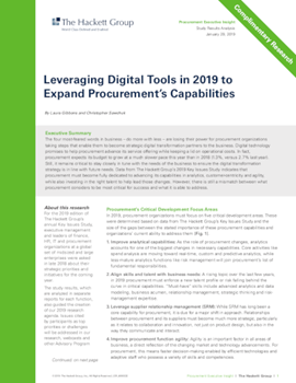Ivalua Leveraging Digital Tools in 2019 to Expand Procurement's Capabilities