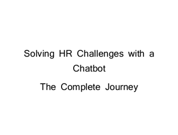 Ubisend Solving HR Challenges with A Chatbot: The Complete Journey