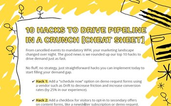 10 Hacks to Drive Pipeline in a Crunch