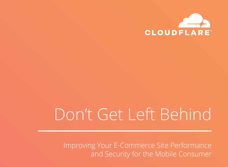 Cloudflare Improving Your E-Commerce Site Performance and Sec