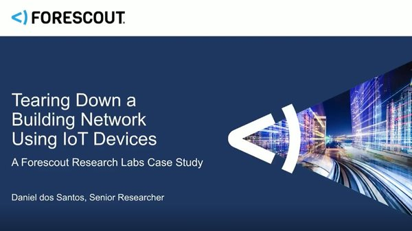 Tearing Down a Building Network Using IoT Devices