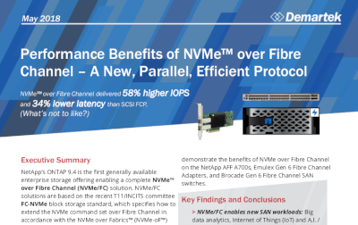 Performance Benefits of NVMe over Fibre Channel - a New, Parallel, Efficient Protocol